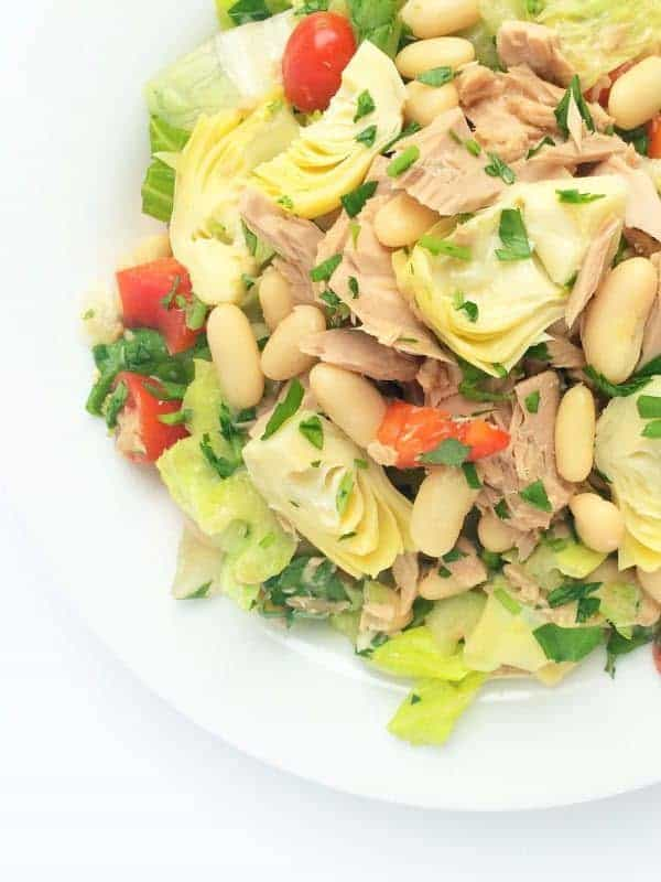 Italian Chopped Salad with Cannellini Beans