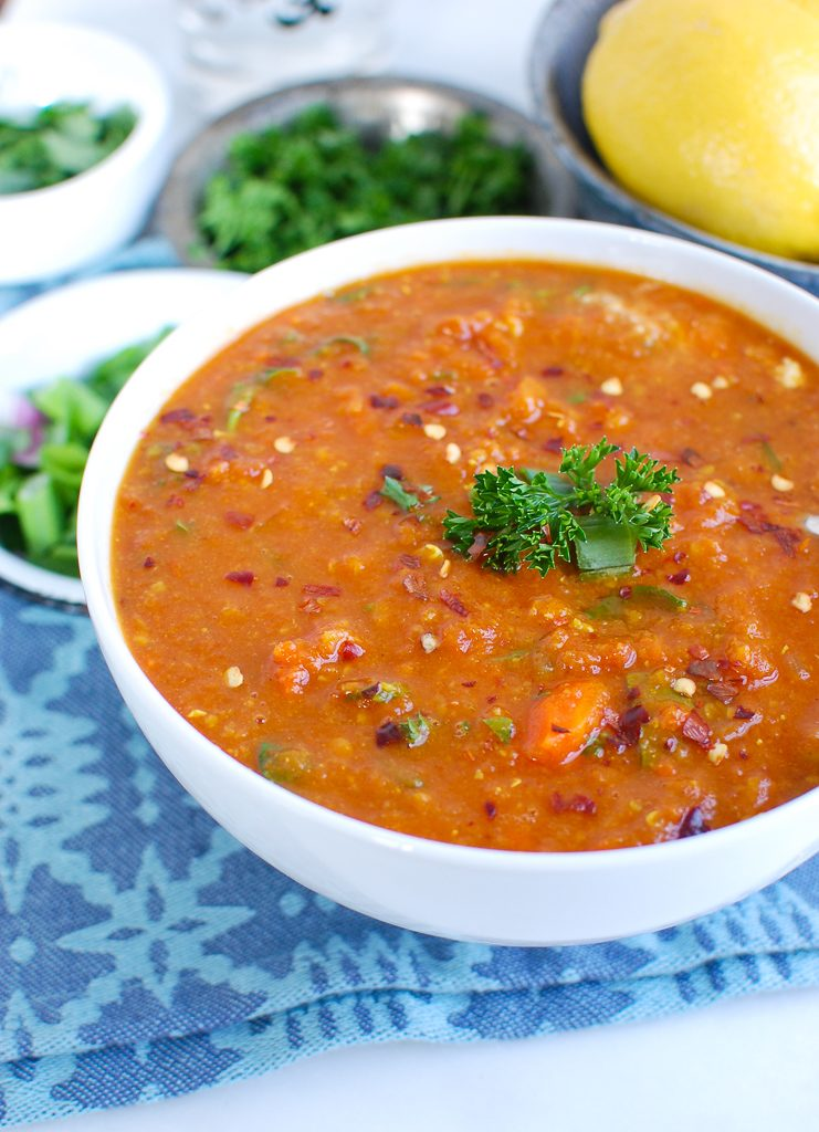 Slow Cooker Lentil Soup with Parsley