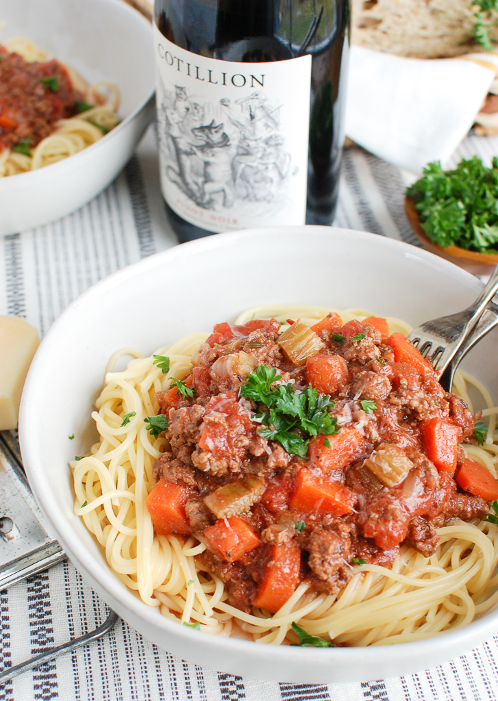 Slow Cooker Spaghetti Sauce with Wine
