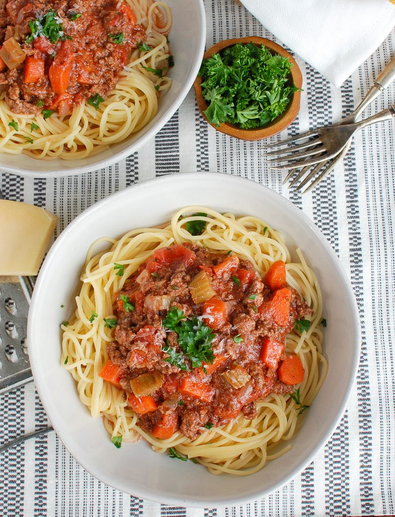 Slow Cooker Spaghetti Sauce Two Bowls