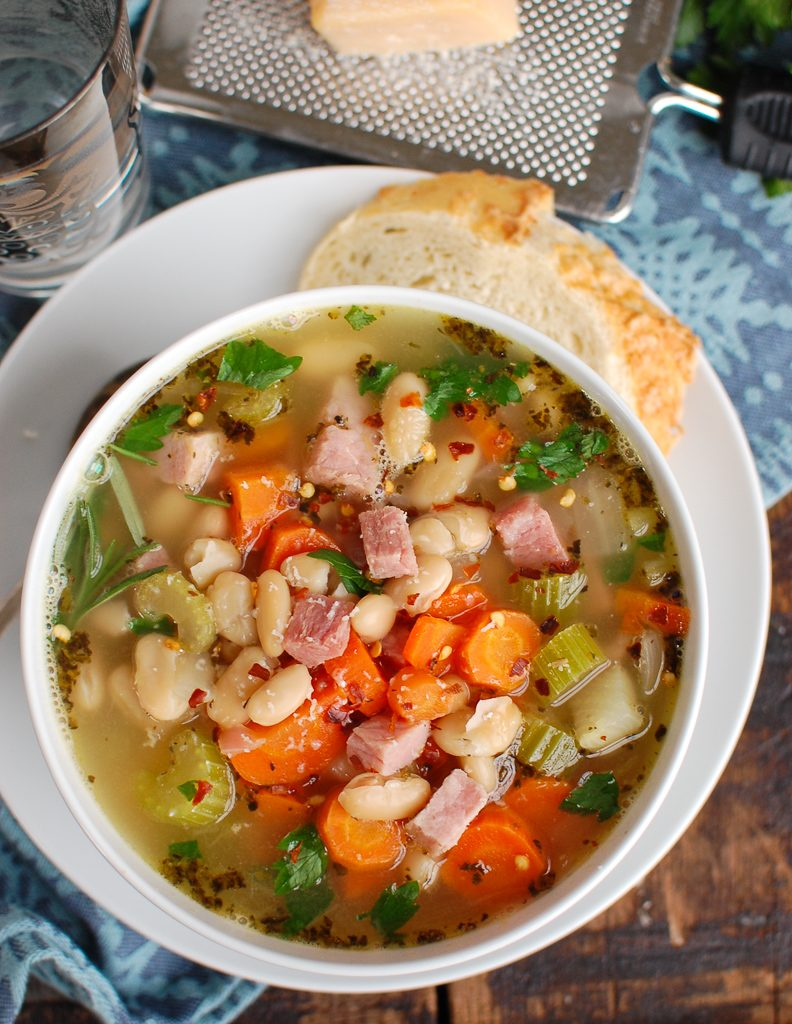 White Bean and Ham Soup Above
