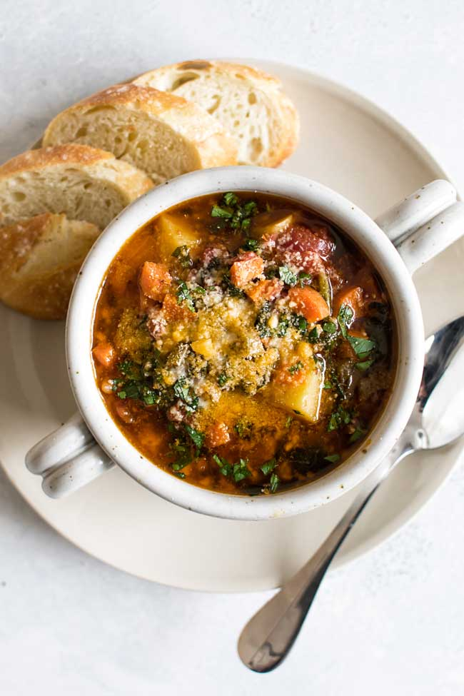 Winter Minestrone | Girl Gone Gourmet