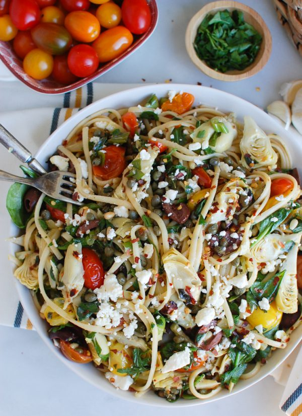 Mediterranean Pasta with Two Forks