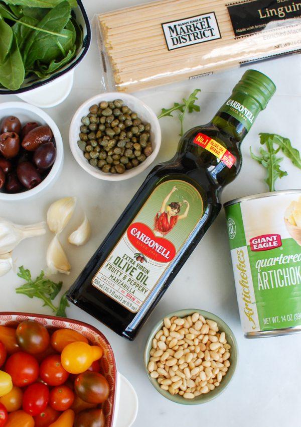 Mediterranean Pasta Ingredients