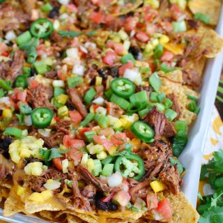 Beef Nachos on a Sheet Pan