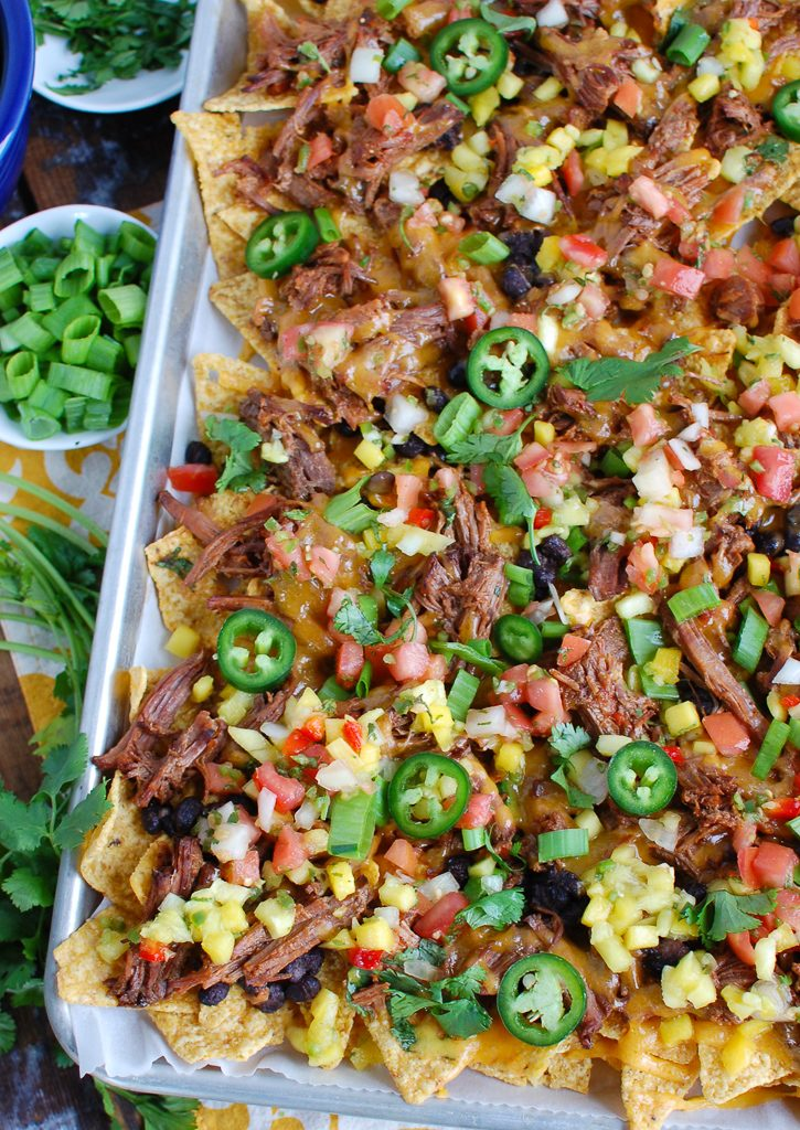 Beef Nachos for a crowd