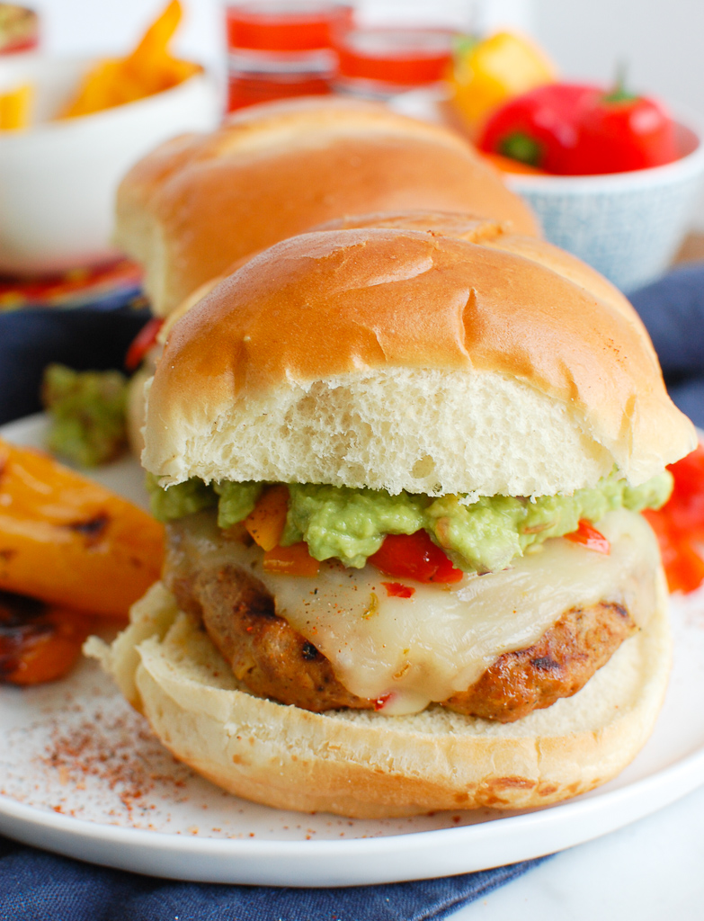 Pork Burgers with Guacamole