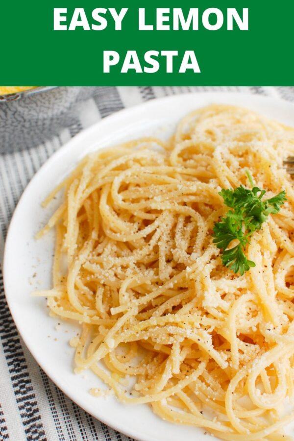 Lemon Pasta with parsley