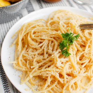Lemon Pasta with Fork