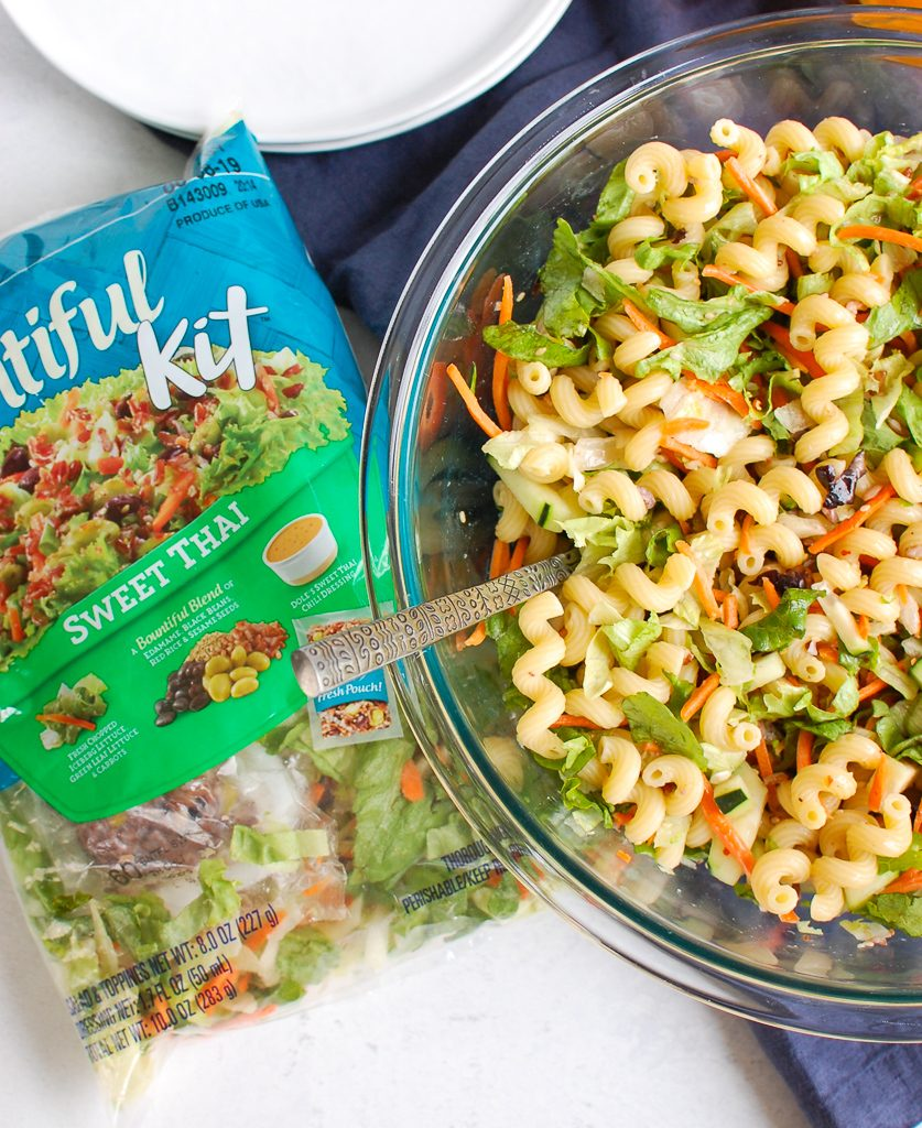 Asian Pasta Salad with salad kit