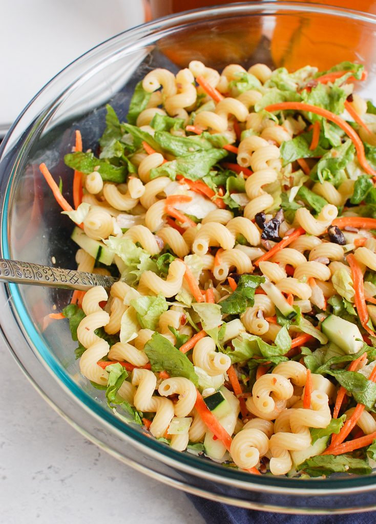 Asian Pasta Salad with carrots