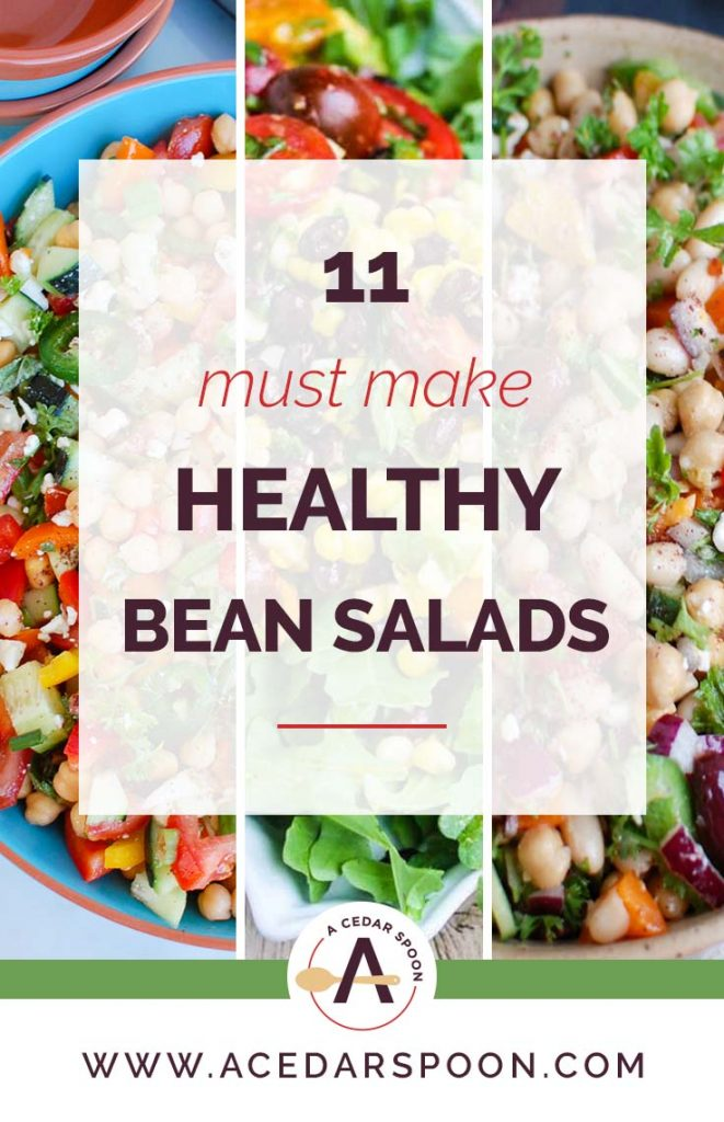 11 Must Make Healthy Bean Salads with vegetables