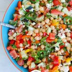 11 Must Make Healthy Bean Salads in blue bowl