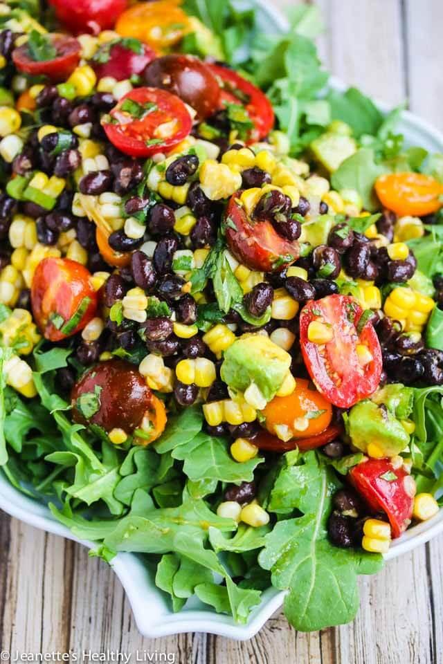 Chipotle Black Bean Tomato Corn Salad