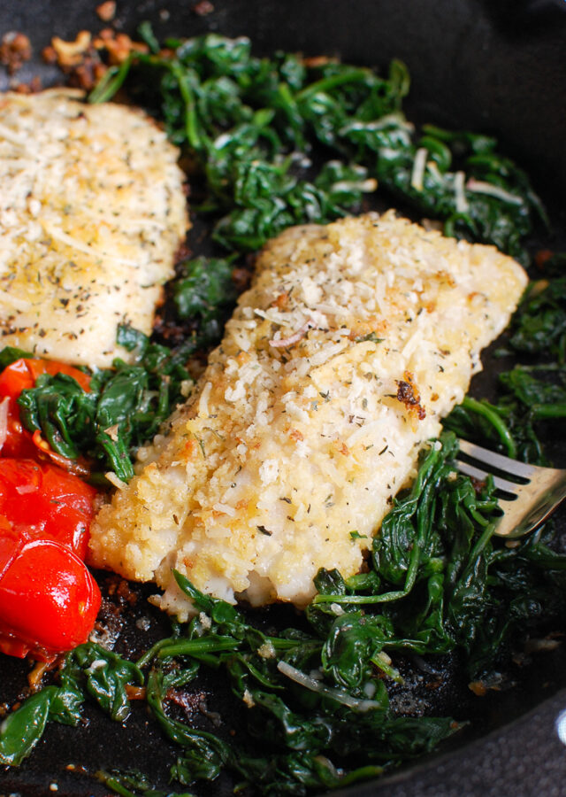 Black Sea Bass Recipe in Cast Iron Skillet