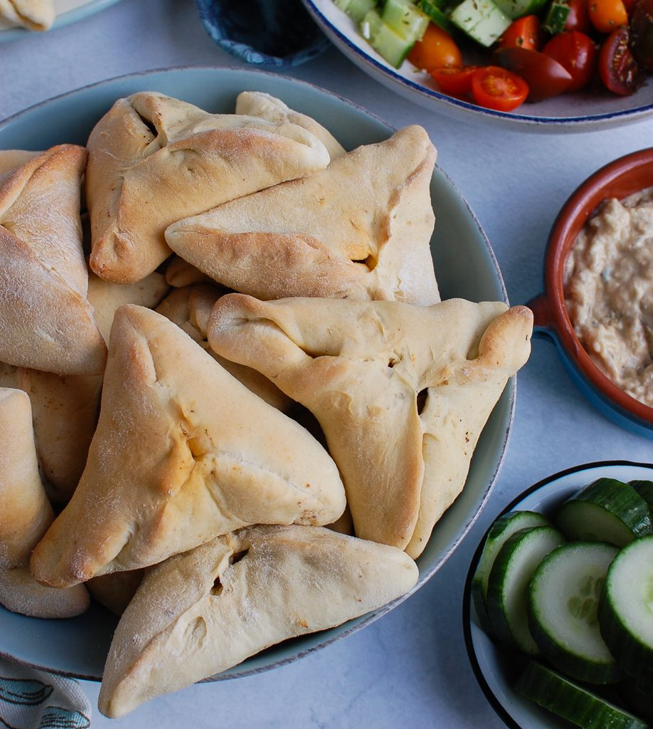 Lebanese Meat Pies with cucumbers