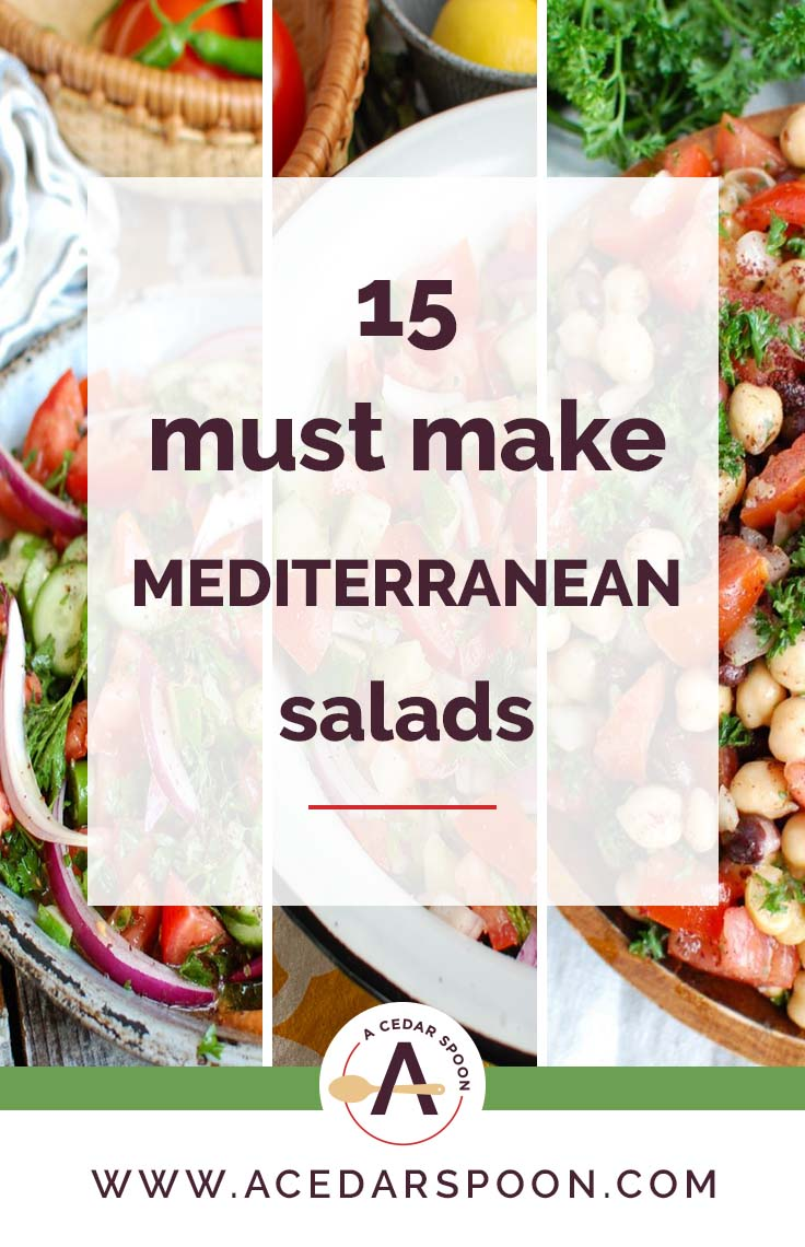 15 Must Make Mediterranean Salads three salads