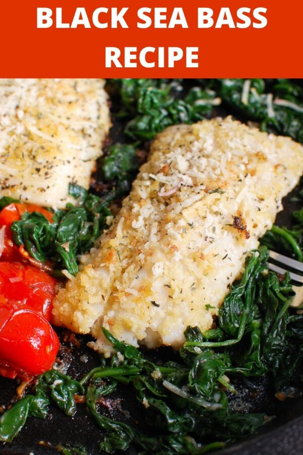 Black Sea Bass Recipe with greens