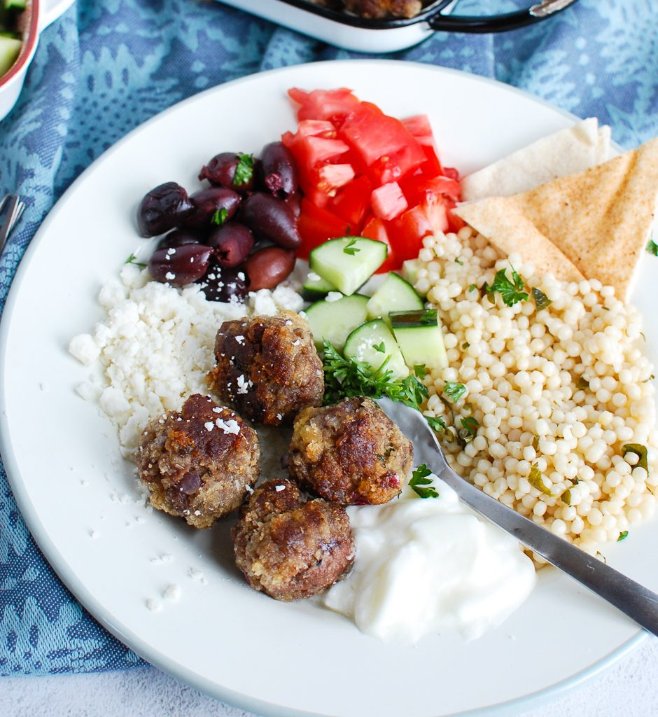 Greek Meatballs with pita