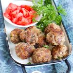 Greek Meatballs on a tray