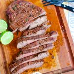 Grilled Carne Asada with limes