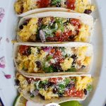 Breakfast Tacos white plate
