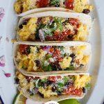 Breakfast Tacos white plate