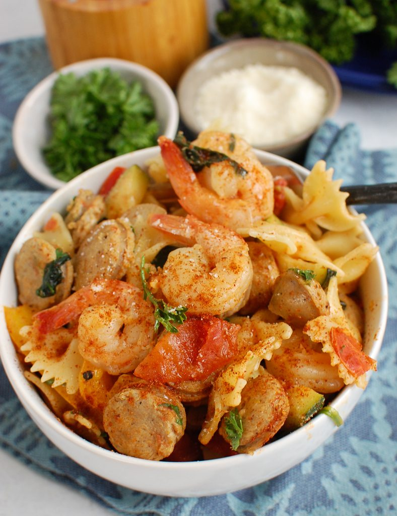 Pasta with Shrimp and Sausage Image 4