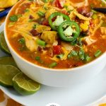 Chicken Enchilda Soup with Logo
