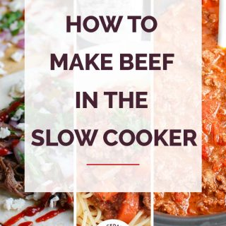 How to Make Beef in the Slow Cooker Collage