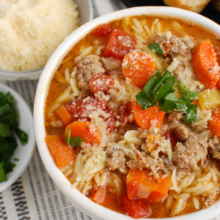Italian Sausage Soup with parsley