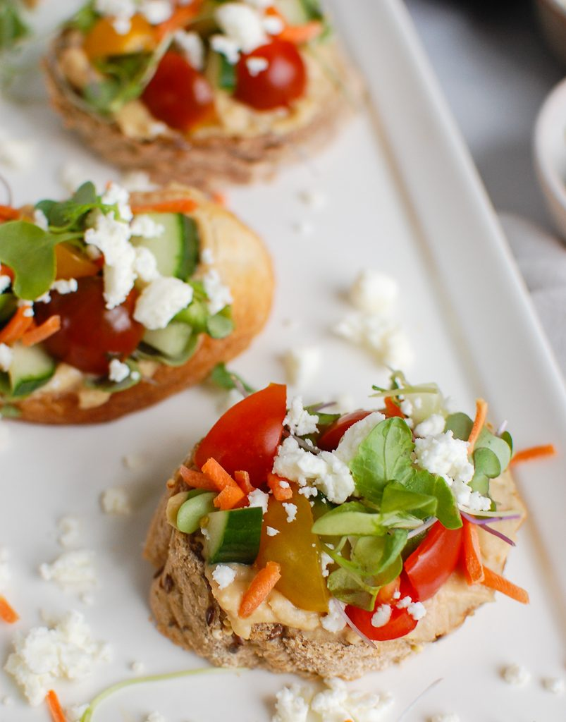 Mediterranean Crostini with tomatoes