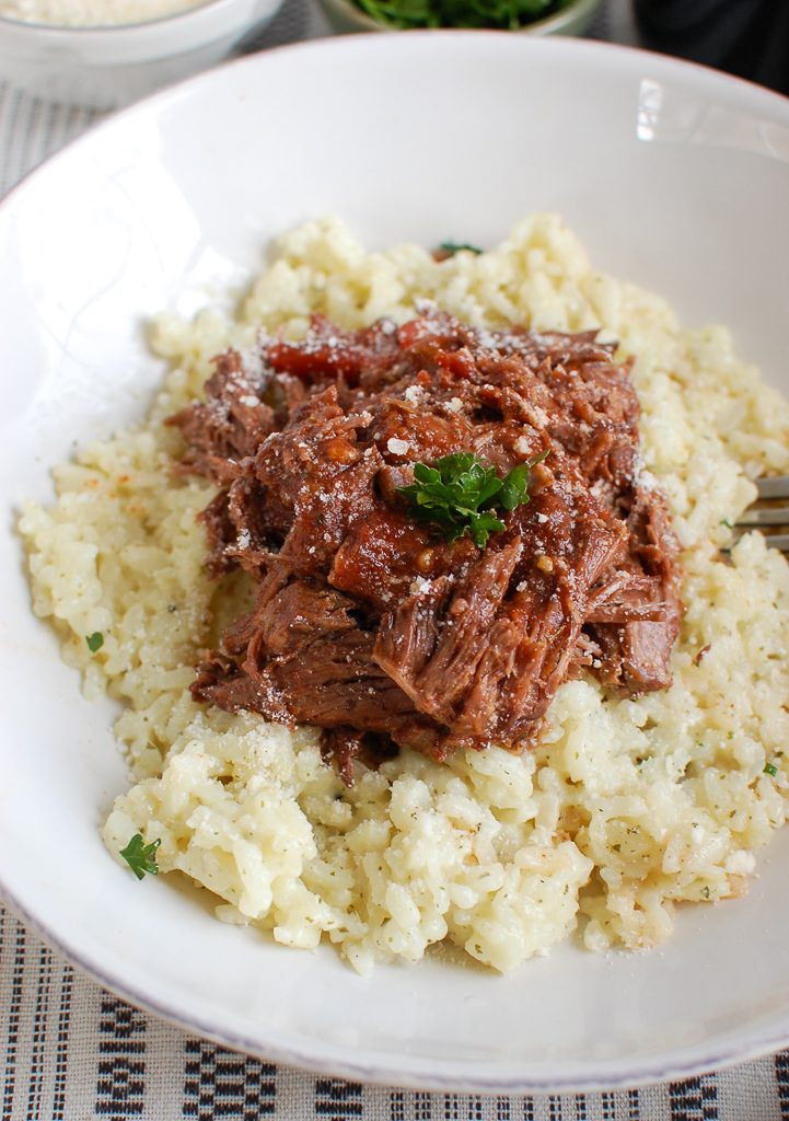 Slow Cooker Italian Short Ribs with parsley