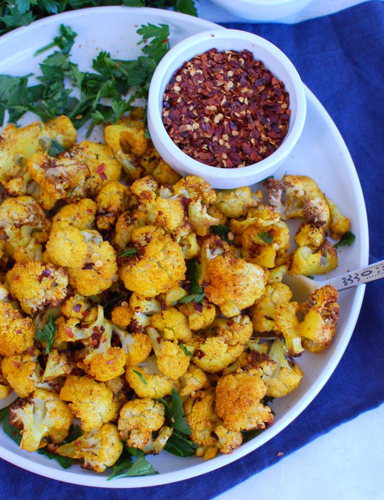 Air Fryer Cauliflower with parsley