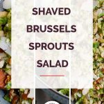 Brussels sprouts salad collage