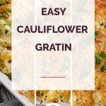 Easy Cauliflower Gratin Collage 1