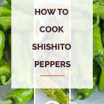 How to Cook Shishito Peppers Collage