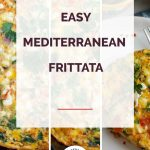 Mediterranean Frittata Collage