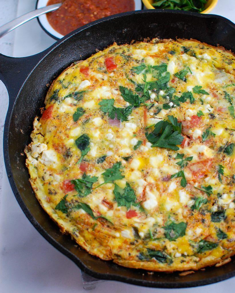 Mediterranean Frittata with harissa