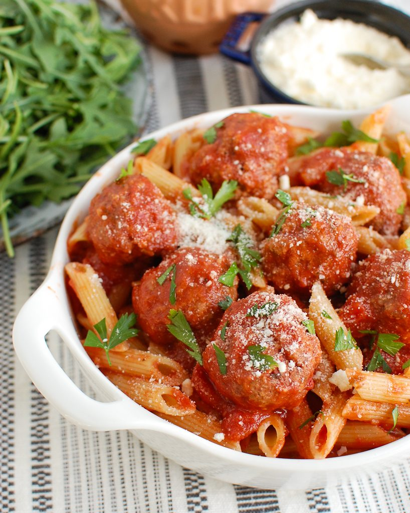 Pork Meatballs with cheese