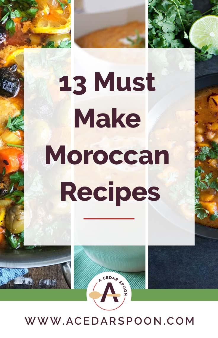 13 Must Make Moroccan Recipes Logo 2
