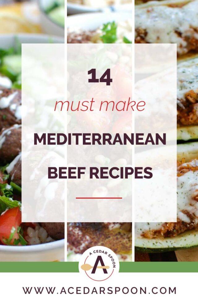 14 Mediterranean Ground Beef Recipes