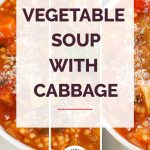 Vegetable Soup with Cabbage Collage 1