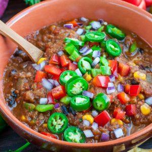 Vegan Lentil Chili – Instant Pot + Slow Cooker