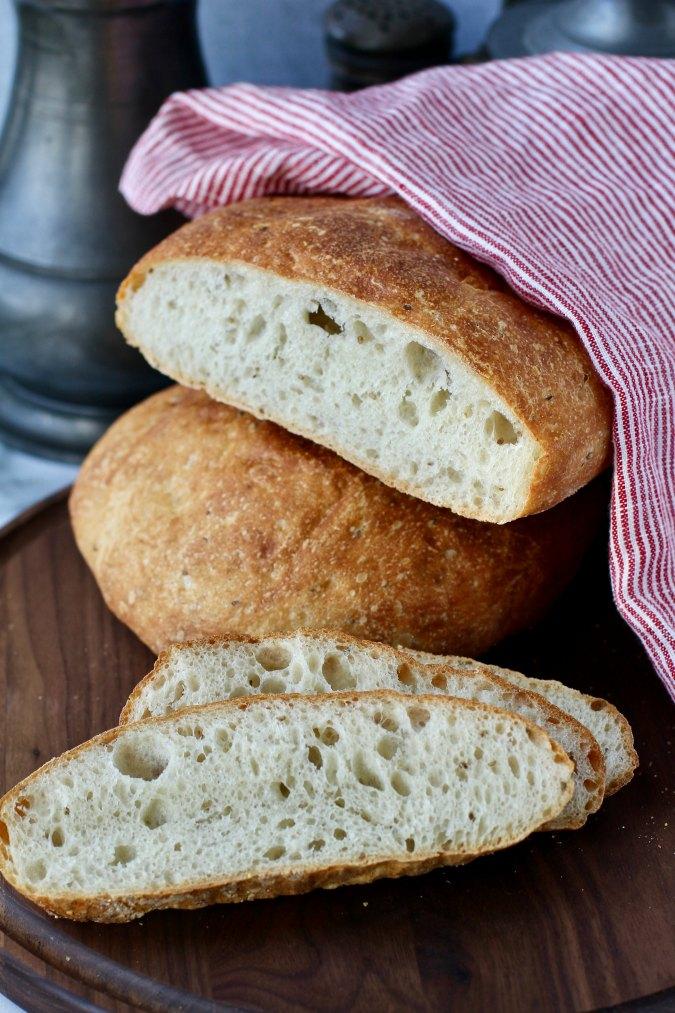 No Knead Ksra (Moroccan Anise and Barley Flatbread)