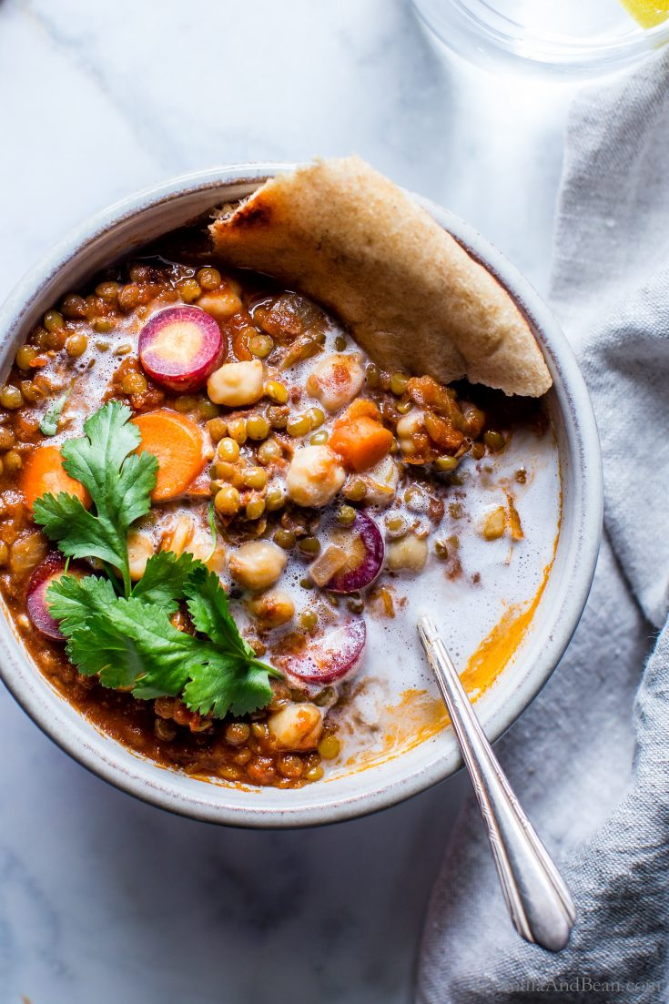 Moroccan Lentil Chickpea Stew