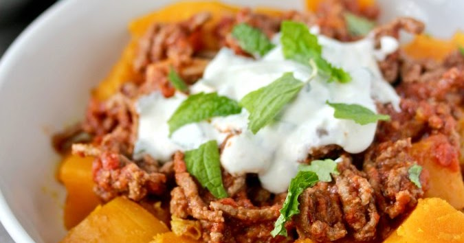 Afghan Style Pumpkin with Yogurt Sauce