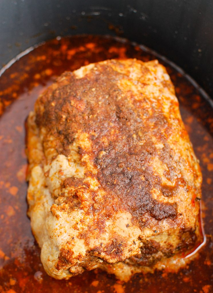 How to Cook Pork Loin in the Slow Cooker in crockpot