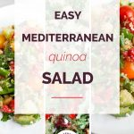 Mediterranean Quinoa Salad Collage 2