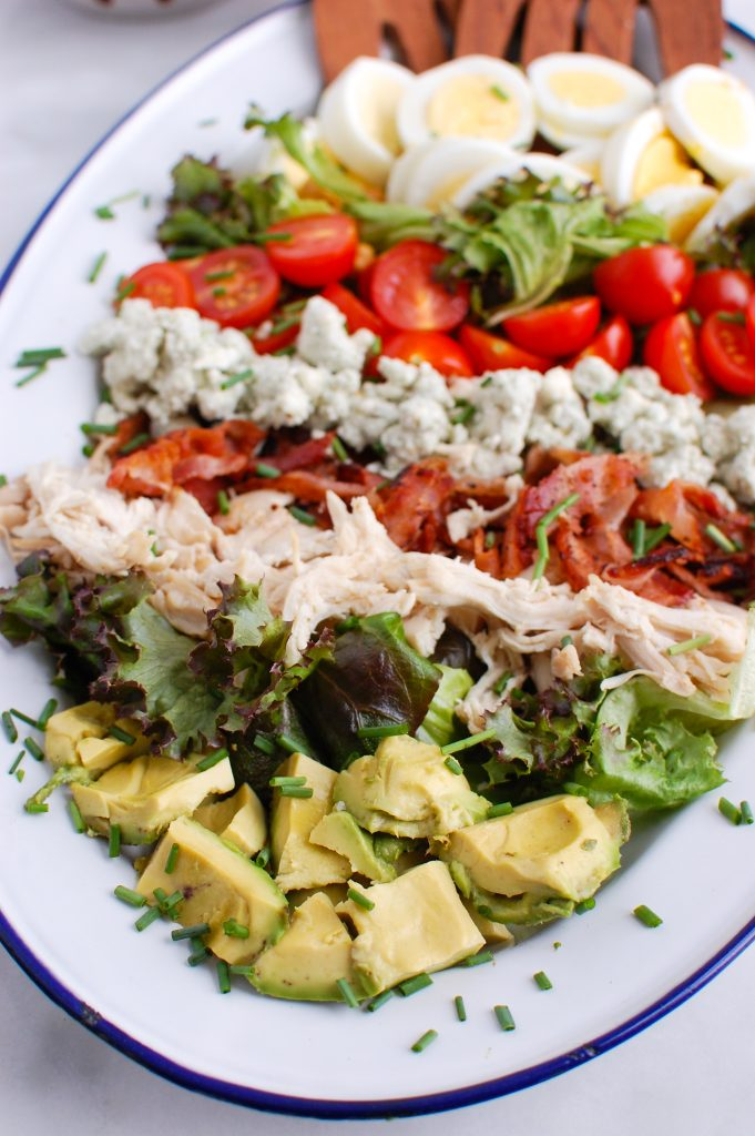 Cobb Salad on platter